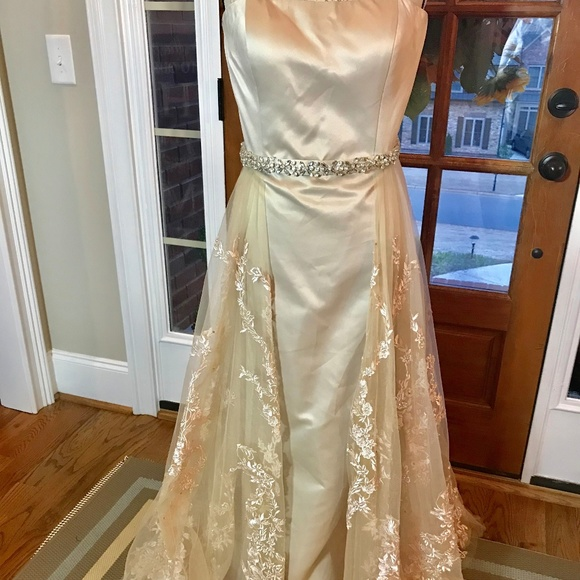 Custom Dresses & Skirts - Champagne Colored Prom/Evening Gown